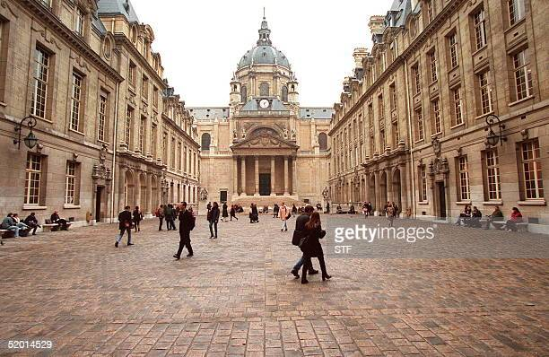 A photo dated 22 November 1995 of the Sorbonne University in Paris