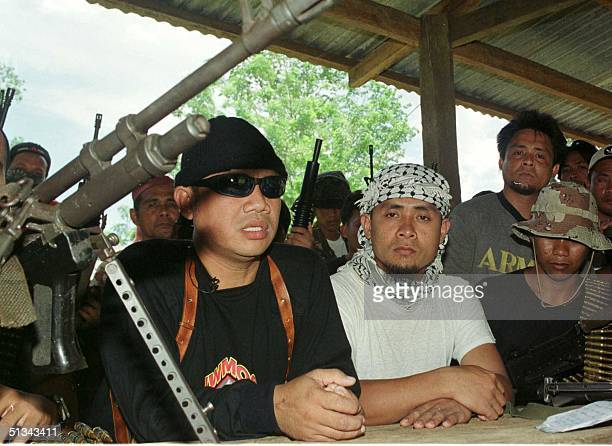Photo dated 24 July 2000 shows Abu Sayyaf leader Abu Sabaya at their camp in Patikul town on Jolo island The rebels that hold hostage American...