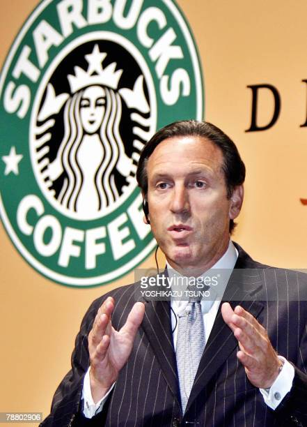 Photo dated 26 September 2005 shows US coffee giant Starbucks chairman Howard Schultz at a Tokyo hotel Starbucks chief executive has exited the...
