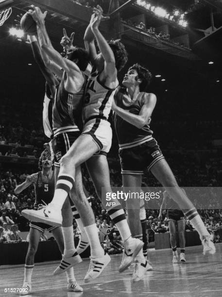 Photo dated 27 July 1976 of Summer Olympics basketball final between USA and Yugoslavia in Montreal USA won 9574 and received the gold medal Pictured...