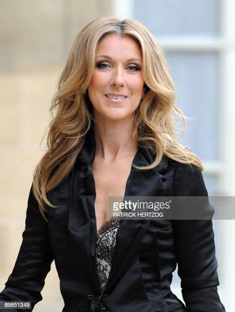 Photo dated May 22 2008 shows Canadian singer Celine Dion arriving at the Elysee Palace in Paris to be made Knight in the order of The Legion of...