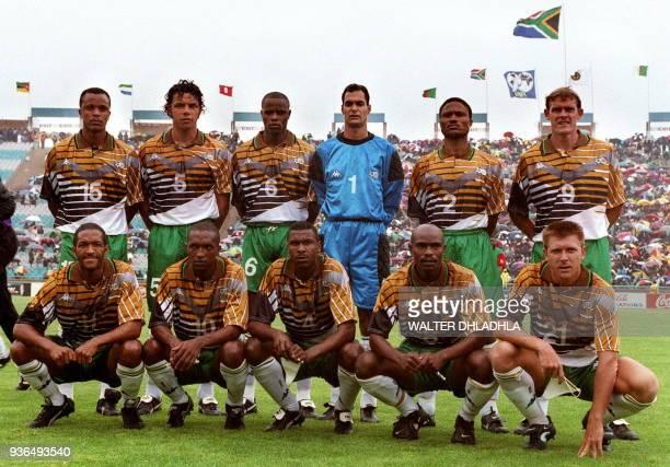 Photo de l'équipe d'Afrique du Sud adversaire de l'équipe de France dans le groupe C qui affrontera les Tricolores le 12 juin au stade Vélodrome à...