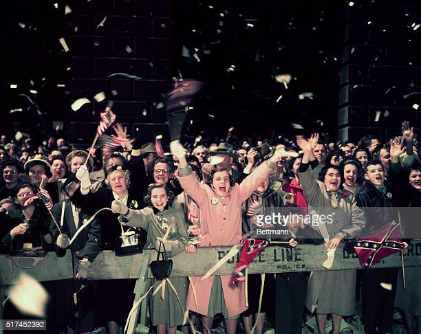 Photo depicts the New York reception or ticker tape parade for General Douglas MacArthur