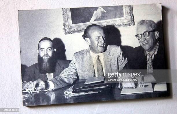Photo d'Oskar Schindler , l'industriel allemand membre du parti nazi, qui sauva pendant la seconde guerre mondiale plus de 1200 juifs en les...