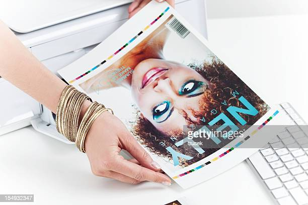 photo editor at work - printout stock pictures, royalty-free photos & images