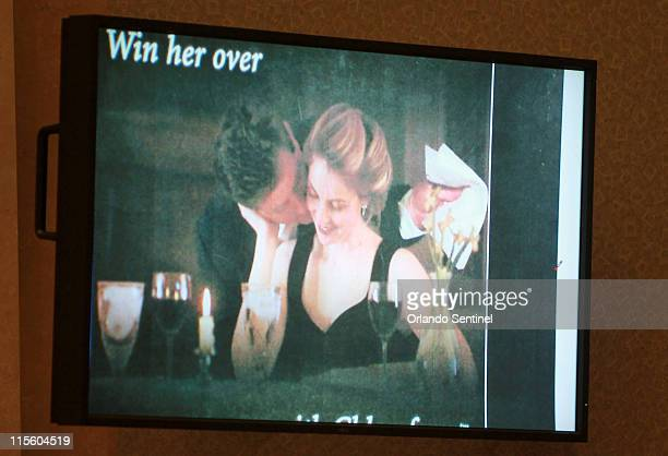 A photo entered into evidence is seen on a courtroom monitor during the Casey Anthony trial at the Orange County Courthouse on Wednesday June 8 in...
