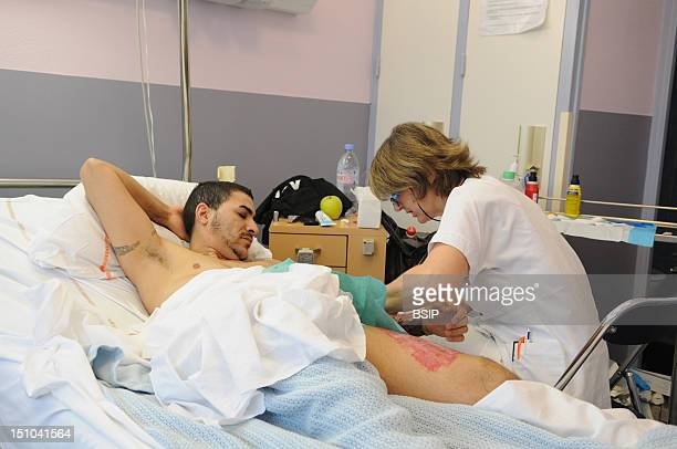 Photo Essay At Henry Gabrielle Hospital In Lyon France Department Of Urology Postoperative Nursing Care Of Trans Man Patient After A Sex Reassignment...