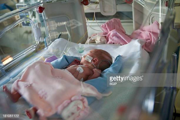 Photo Essay At Laennec Hospital In Creil France Department Of Neonatology 1 Week Old Premature Baby Girl Born At 31 Weeks With A Birth Weight Of 1 2Kg