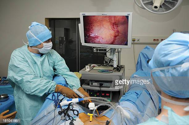 Photo Essay At Lyon Hospital France Department Of Urology Sex Reassignment Sugery Transgender Ftm Here Hystero Ovariectomy Under Laparoscopy...