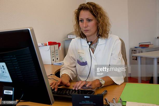 Photo Essay At The Hospital Of Meaux France Department Of Medical Imagery Data Entry Room For Exam Reports Medical Secretary
