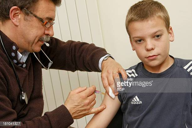 Photo Essay From Doctor's Office Merville France Vaccination Booster Dose Of Dt Polio Vaccine