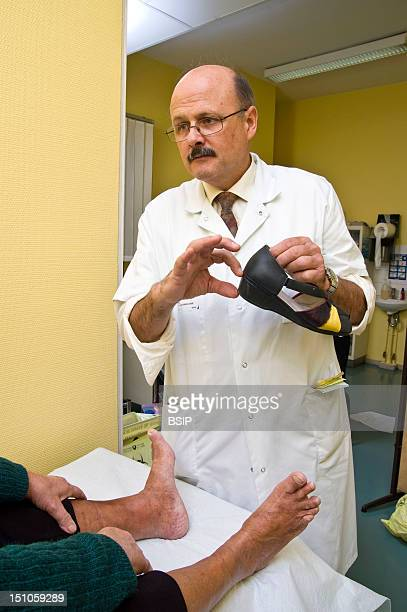 Photo Essay From Hospital Department Of Diabetology Endocrinology Of St Louis Hospital In Paris France Consultation Of Podology Of Dr Acker Elderly...