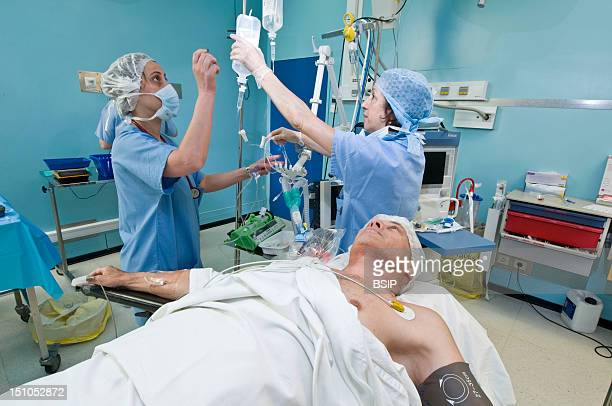Photo Essay From Hospital South Francilien Hospital Louise Michel Hospital In Evry France Operating Room Implantation Of An Insulin Pump Preparation...