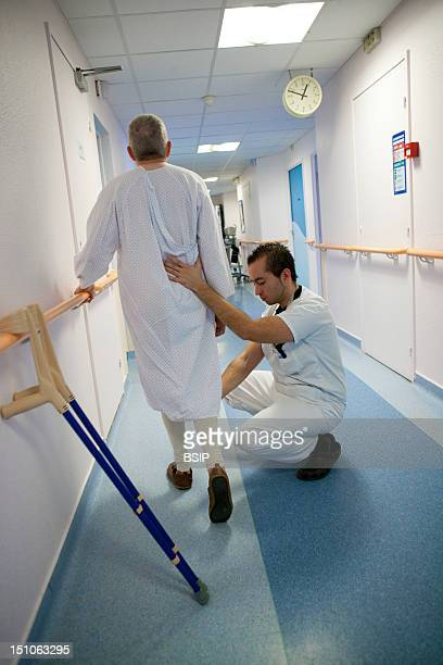 Photo Essay From La Croix Saint Simon Hospital Paris France Department Of Orthopedics Exercises With The Physical Therapist After The Placement Of A...