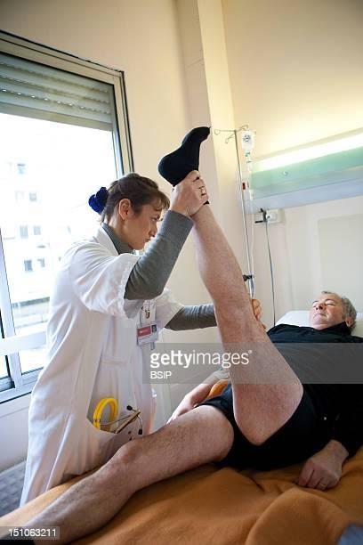 Photo Essay In Rheumatology At La Croix Saint Simon Hospital Paris France Visit Of The Rheumatologist To A Patient Suffering From Polyrheumatoid...