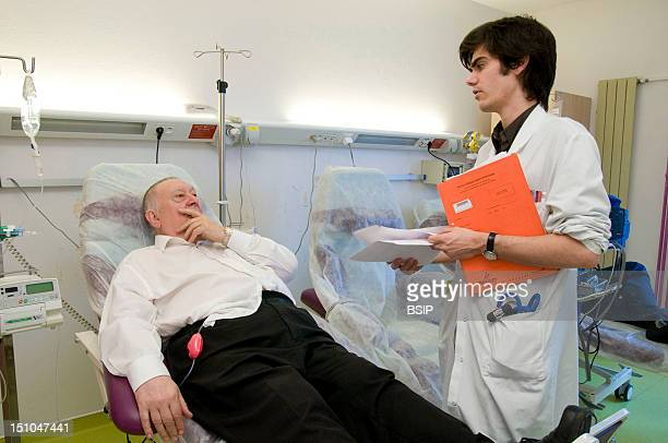 Photo Essay In The Department Of Gastroenterology At Saint Louis Hospital Paris France Outpatient Hospital Chemotherapy Of A Patient Affected By A...
