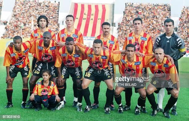 photo faite le 15 novembre 2000 de l'équipe de l'Espérance de Tunis qui jouera le 02 décembre 2000 la finale aller de la ligue des champions...