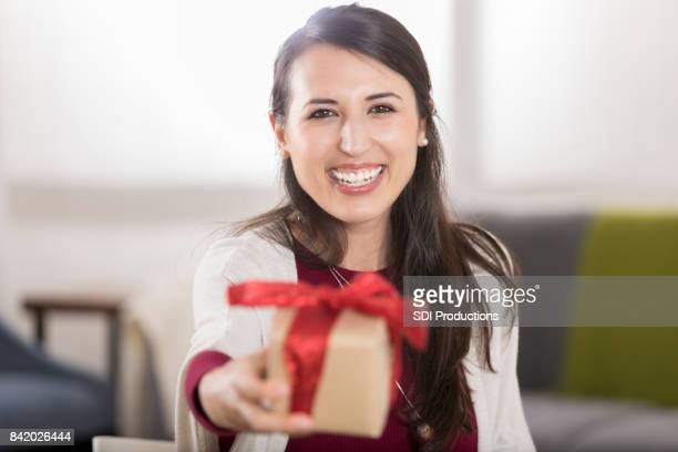 photo from the point of view of a gift recipient - receiving stock pictures, royalty-free photos & images