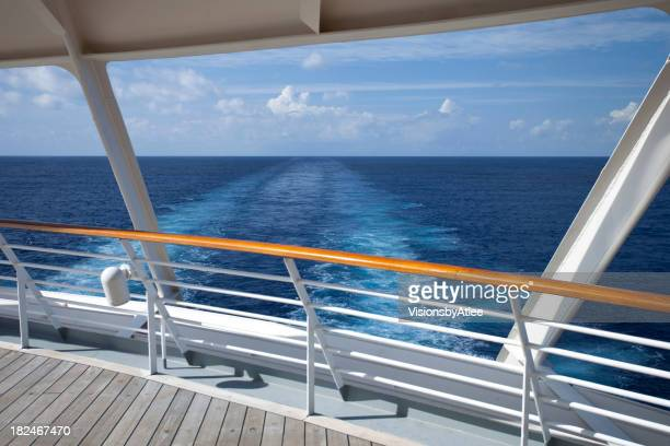 Photo from the wooden deck of a Caribbean Cruise