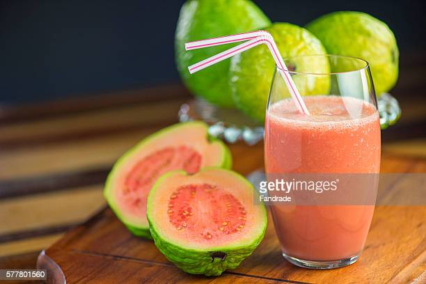 photo guava juice and fruit - guava fruit stock photos and pictures
