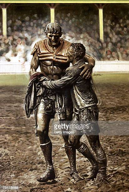 Photo illustration is seen off Norm Provan and Arthur Summons after the 1963 NSW Rugby League Premiership Grand Final on May 7, 2002 in Sydney,...