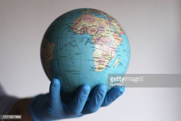 Photo Illustration of a globe in Buenos Aires Argentina on August 6 2020 Russia said it will produce thousands of coronavirus vaccines per month...