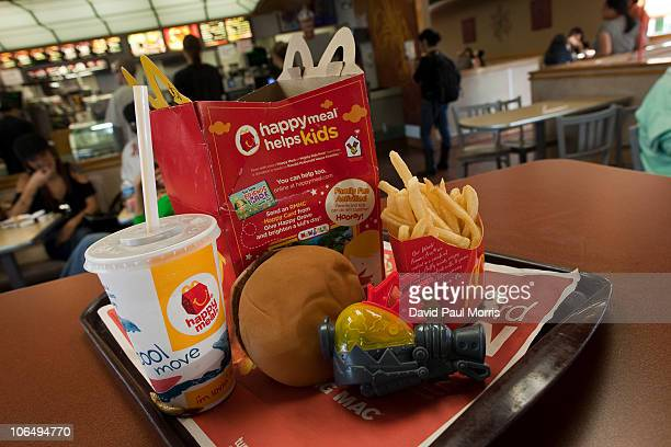 A photo illustration of a Happy Meal at McDonald's on November 3 2010 in San Francisco California San Francisco became the first city in the nation...