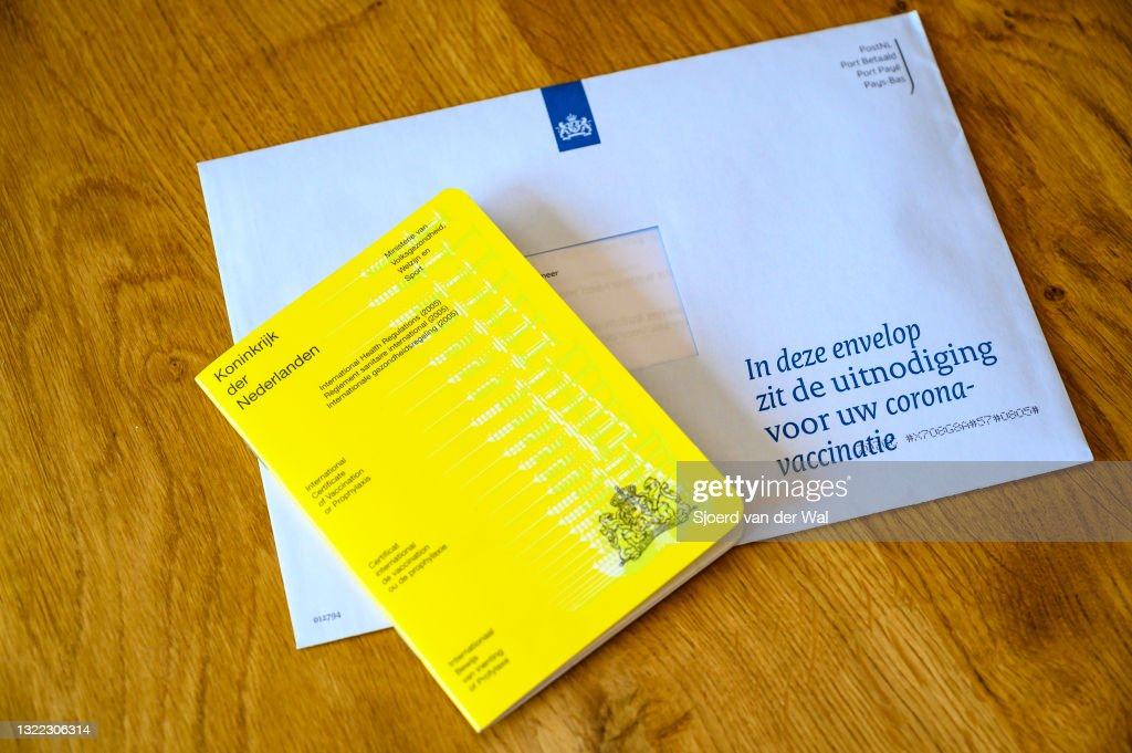 International certificate of Vaccination or Prophylaxis document of The Netherlands : News Photo