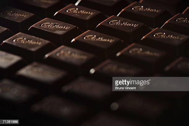 A photo illustration of a large bar of Cadbury's chocolate taken on June 23 2006 in London Over a million Cadbury chocolate bars are to be removed...