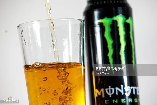 A photo illustration of a Monster energy drink on August 30 2018 in London England British Prime Minister Theresa May has announced government plans...