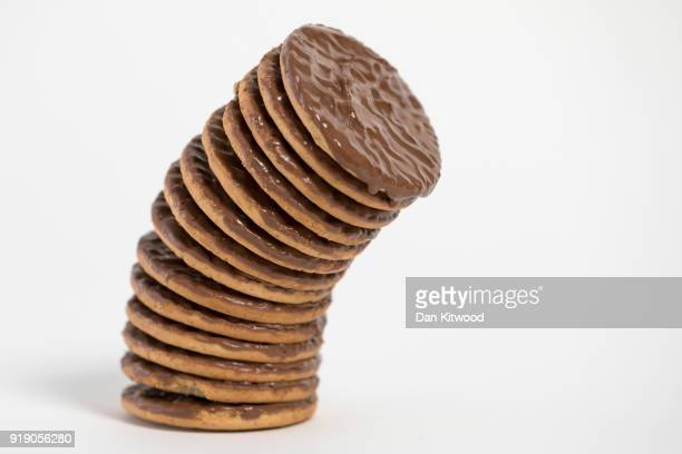 Photo illustration of chocolate biscuits on February 16, 2018 in London, England. A recent study by a team at the Sorbonne in Paris has suggested...