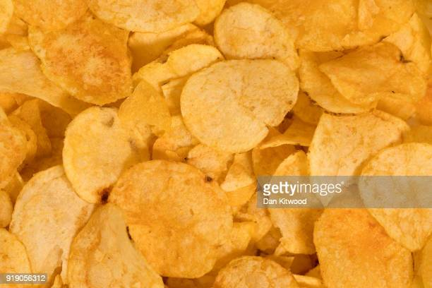 Photo illustration of crisps on February 16, 2018 in London, England. A recent study by a team at the Sorbonne in Paris has suggested that 'Ultra...