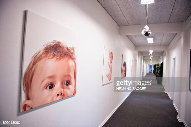 Photo illustration of Cryos the biggest sperm bank worldwide taken December 15 in Aarhus / AFP PHOTO / Henning Bagger