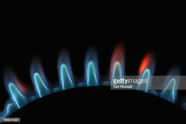 A photo illustration of rings on a gas hob on October 17 2013 in London England British Gas who supply energy to almost eight million households in...