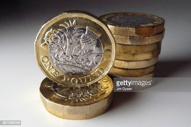A photo illustration of the new 12sided one pound coin on September 27 2017 in London England