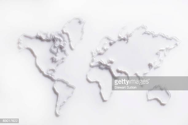 photo illustration of world map