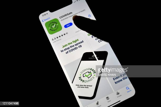 A photo illustration shows a new COVIDSafe app by the Australian government as seen on an Iphone to install in Sydney on April 27 2020 More than one...