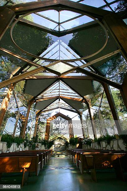 Photo inside the Wayfarers Chapel a landmark overlooking Portuguese Bend in Rancho Palos Verdes Neighborly Advide guide featuring Rancho Palos Verdes...