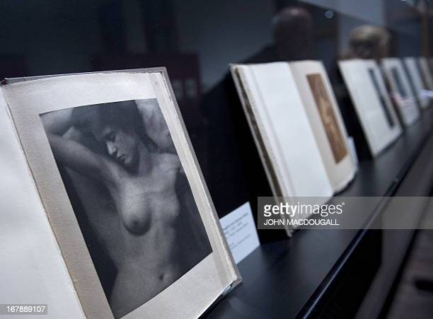 A photo intitled 'Torso' by Alfred Stieglitz and Clarence White appearing in their review 'Camera Work' is on display at the 'The Naked Truth and...
