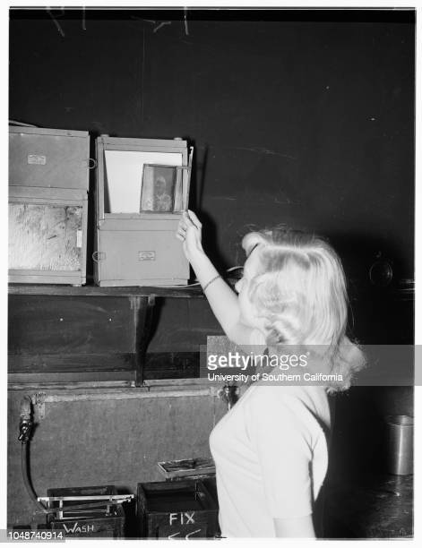 Photo Lab layout at John Muir College Pasadena 14 March 1952 Russ Whitaker TeacherCarol GrundRichard HerndonBill HopkinsSonnie JohnsonBill...