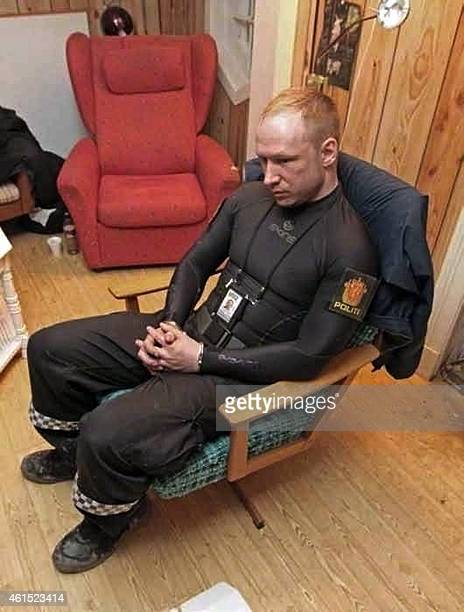 A photo made available to AFP on February 8 2012 shows rightwing extremist Anders Behring Breivik the Norway gunman who killed 77 people in twin...