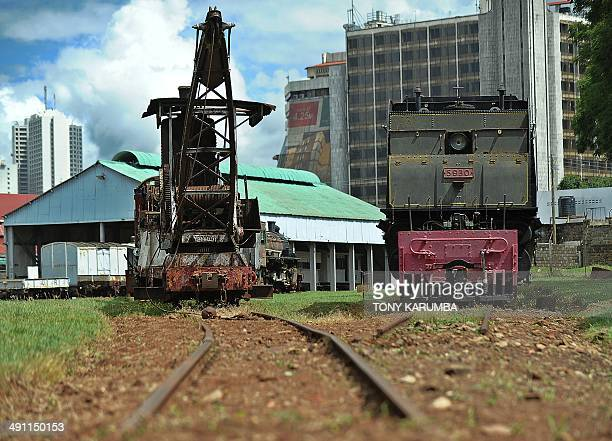 Photo made on May 13 2014 in Nairobi shows steam engine relics from East Africa's formative railway company stand at a yard at the railway museum...