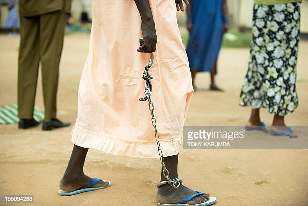 Photo made on October 23 2012 shows Mary Serezina a deathrow inmate sentenced for the killing of a relative at Juba's central prison in South Sudan...