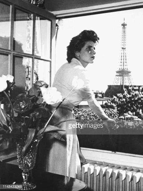 """Photo non datée de l'actrice, productrice et réalisatrice Nicole Stéphane, héroïne notamment du film """"Le Silence de la Mer"""" de Jean-Pierre Melville,..."""