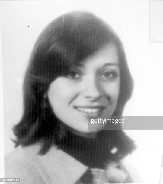 Photo non datée de Patricia Julia Roisinblit la fille de Rosa Roisinblit viceprésidente de l'association humanitaire des GrandMères de la PlacedeMai...