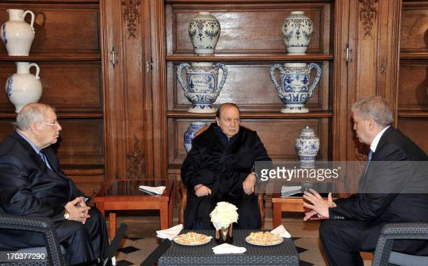 A photo obtained on June 12 2013 from Algerian Press Service news agency shows Algeria's President Abdelaziz Bouteflika receiving Algerian Chief of...