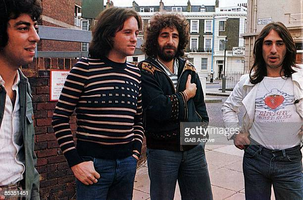Photo of 10CC Group portrait LR Graham Gouldman Eric Stewart Kevin Godley and Lol Creme