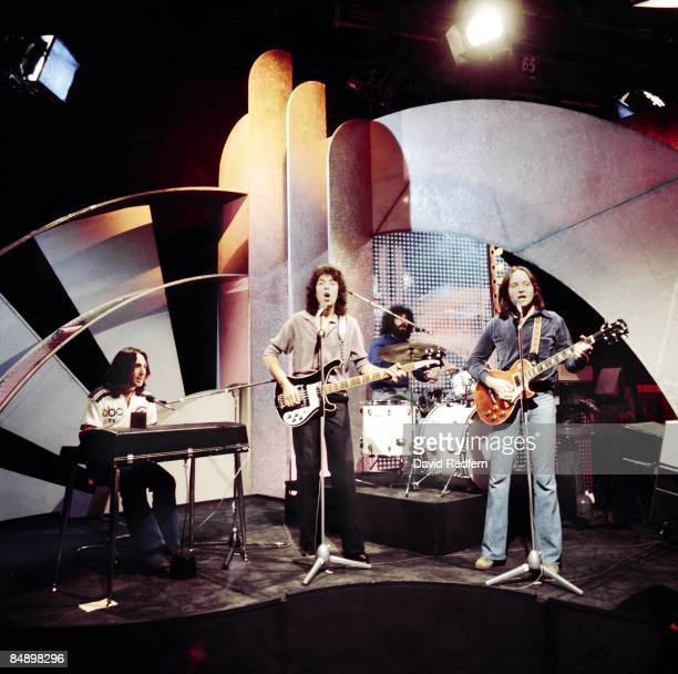Lol Creme Graham Gouldman Kevin Godley Eric Stewart performing 'Rubber Bullets' on Top Of The Pops TV Show