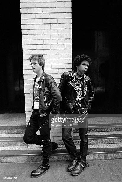 Photo of 70'S STYLE and 80'S STYLE and LEATHER JACKET and PUNKS punks photographed in Kensington High Street