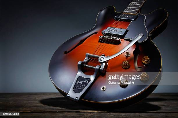 Photo of a 2014 Gibson Luther Dickinson ES335 electric guitar created in association with North Mississippi Allstars guitarist Luther Dickinson taken...